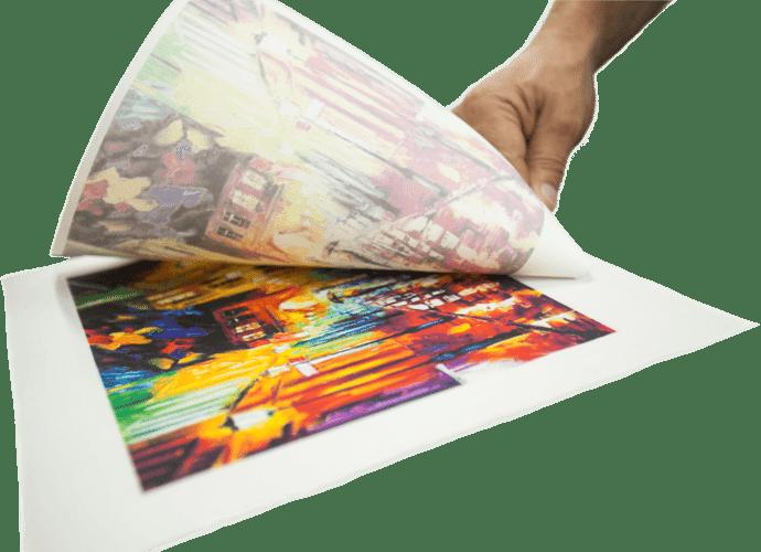 sublimacion textil con papel para sublimar