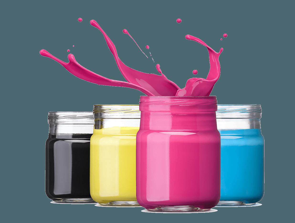 Las tintas de sublimación imprimen en cmyk