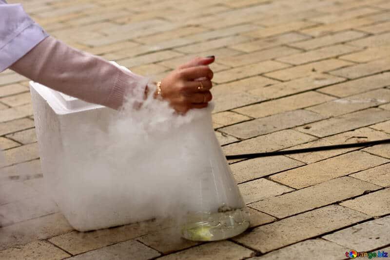 Sublimación química hielo seco