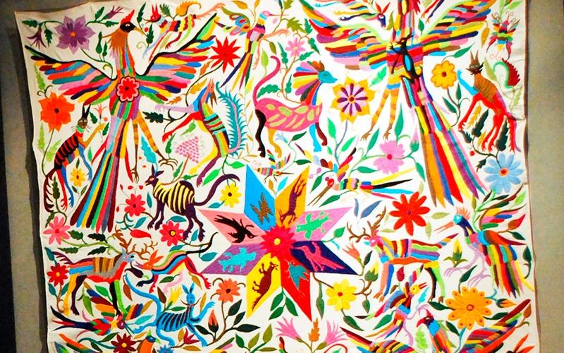 colchas bordadas a mano mexico