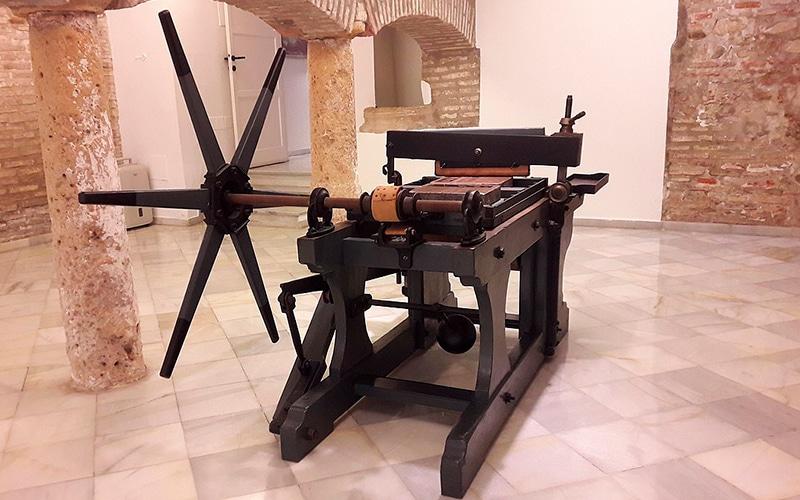 prensa antigua para litografia