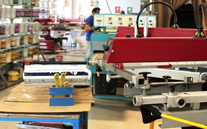 máquina de serigrafía textil
