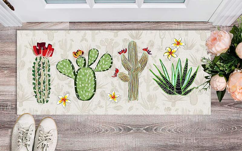 alfombra vinílica ingreso a casa